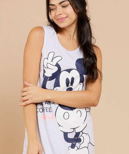 Image_Camisola Feminina Estampa Mickey Sem Manga Disney