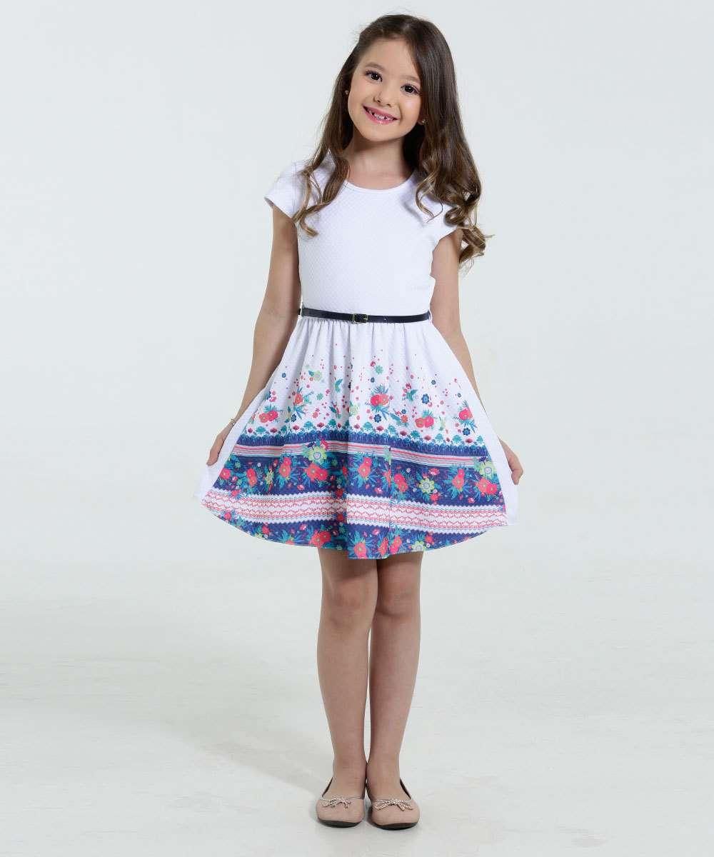 a42a3ef532 Menor preço em Vestido Infantil Piquet Estampa Floral Marisa