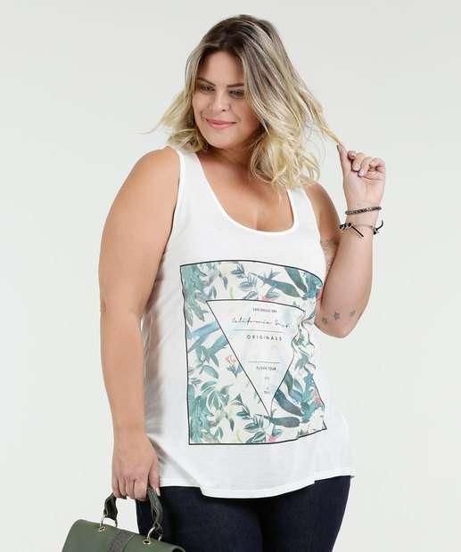 Image_Regata Feminina Estampa Flores Plus Size Texarte
