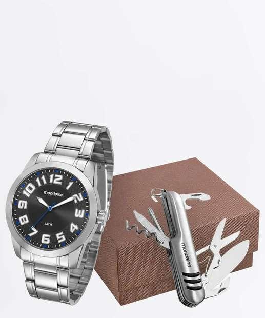69cae76b20f96 Kit Relógio Masculino Mondaine 99130G0MVNE1K1