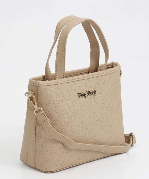 Image_Bolsa Feminina de Mão Textura Betty Boop