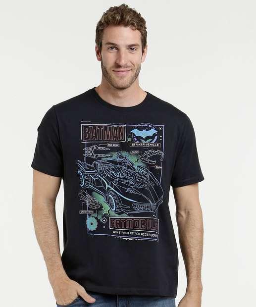 Image_Camiseta Masculina Estampa Batman Liga da Justiça