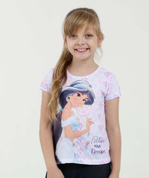 Image_Blusa Infantil Estampa Jasmine Manga Curta Disney