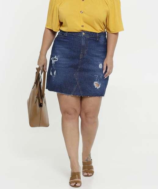 Image_Saia Feminina Jeans Destroyed Plus Size