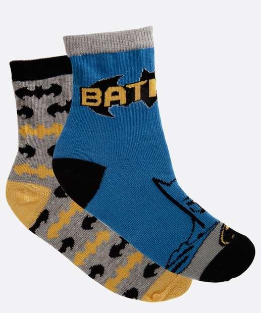 Image_Kit 2 Meias Infantil Batman Liga da Justiça