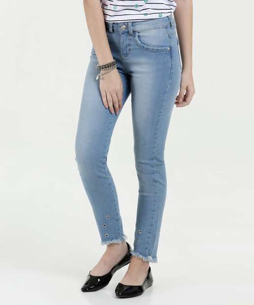 Image_Calça Juvenil Jeans Skinny Ilhós Marisa