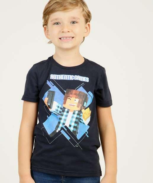 Image_Camiseta Infantil Estampada Manga Curta Authentic Games