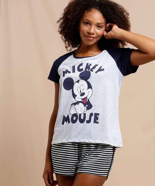 Image_Pijama Feminino Mickey Manga Curta Disney