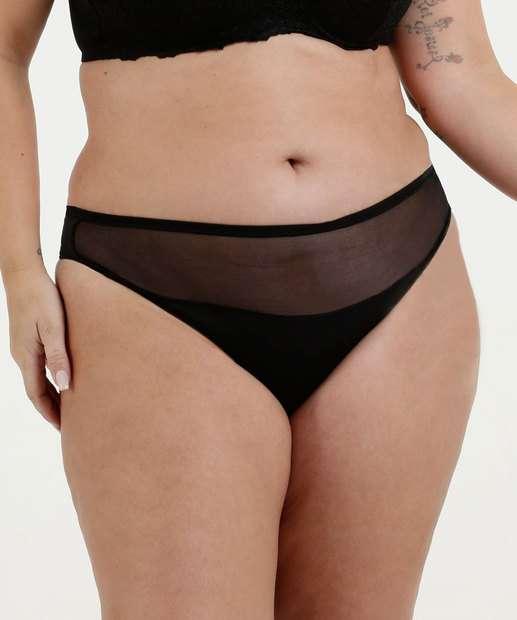 06114b60f Calcinha Feminina Fio Dental Tule Plus Size Marisa