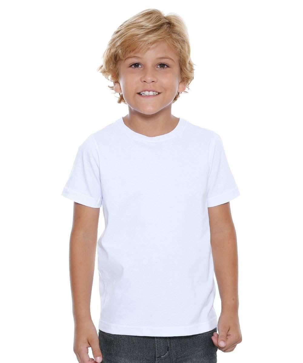 eced65ab89 Camiseta Infantil Manga Curta Básica Marisa