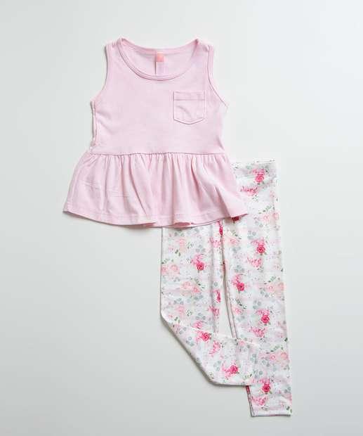 Image_Conjunto Infantil Estampa Floral Sem Manga