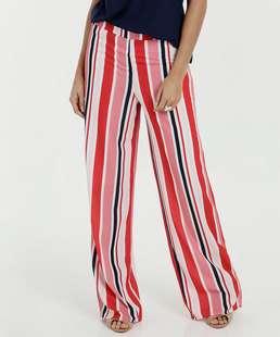 Calça Feminina Pantalona Listrada Marisa