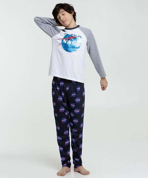 Image_Pijama Juvenil Estampa Nasa Manga Longa