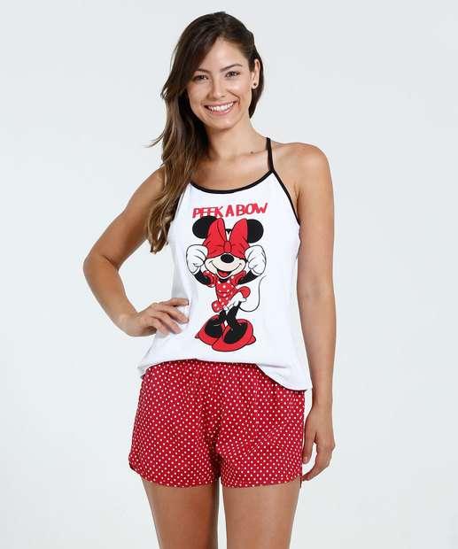 Image_Pijama Feminino Short doll Minnie Disney