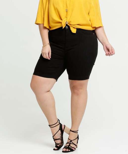 Image_Bermuda Feminina Jeans Ciclista Plus Size