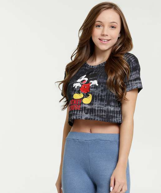 Image_Blusa Juvenil Tie Dye Mickey Manga Curta Disney