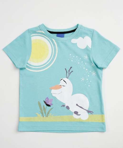 Image_Camiseta Infantil Estampa Olaf Frozen Manga Curta Disney
