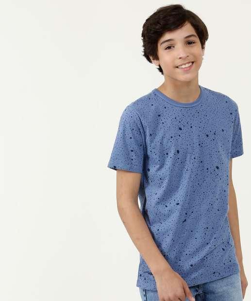 Image_Camiseta Juvenil Estampa Respingos Manga Curta
