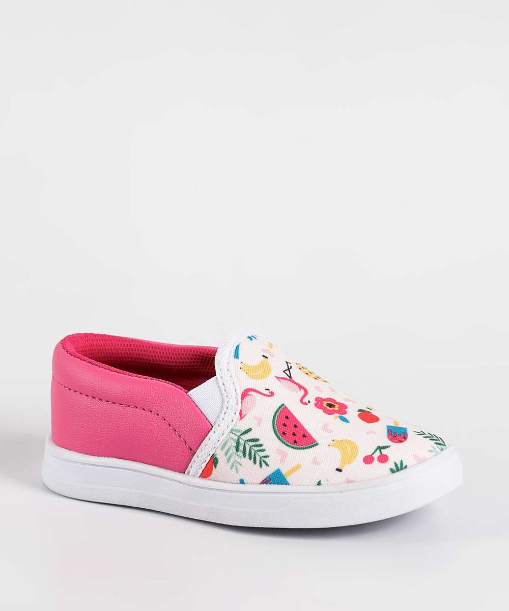 Tênis Infantil Slip On Estampa Tropical Marisa