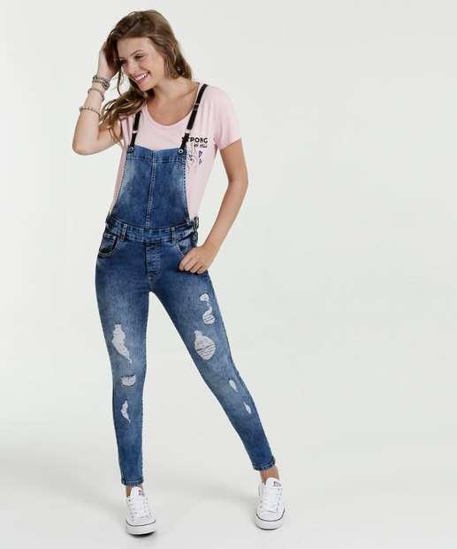 Image_Macacão Feminino Jeans Puídos Sawary