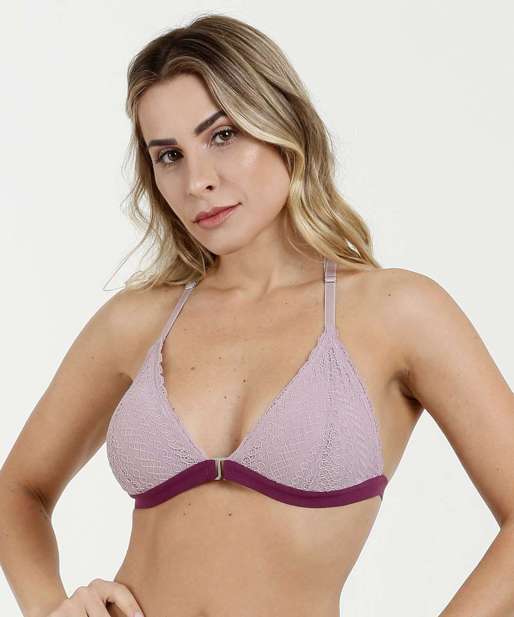 Sutiã Feminino Push Up Renda Strappy Marisa