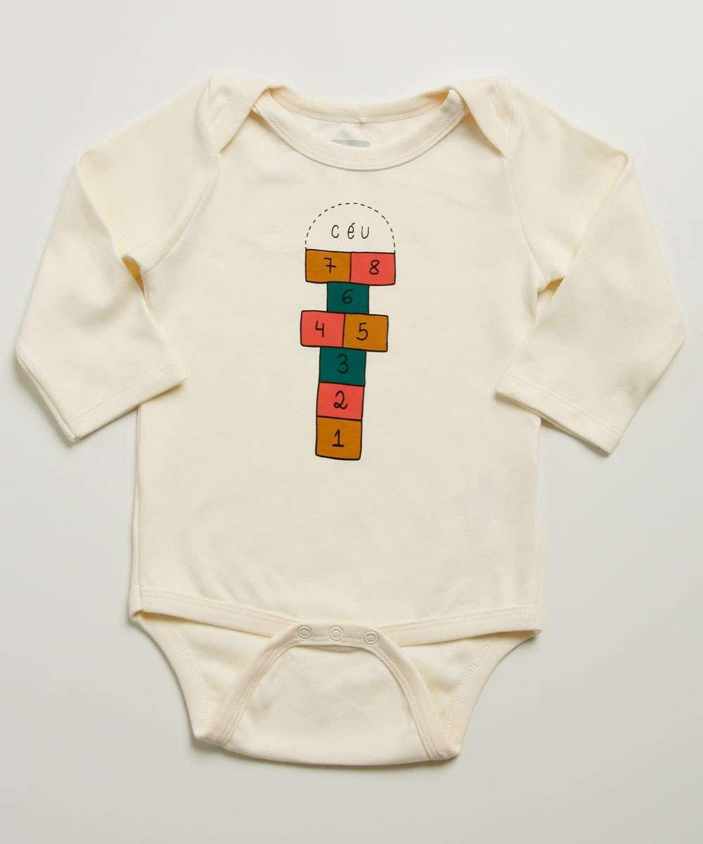 Body Infantil Bebê Estampado Tam 9 a 24 Meses
