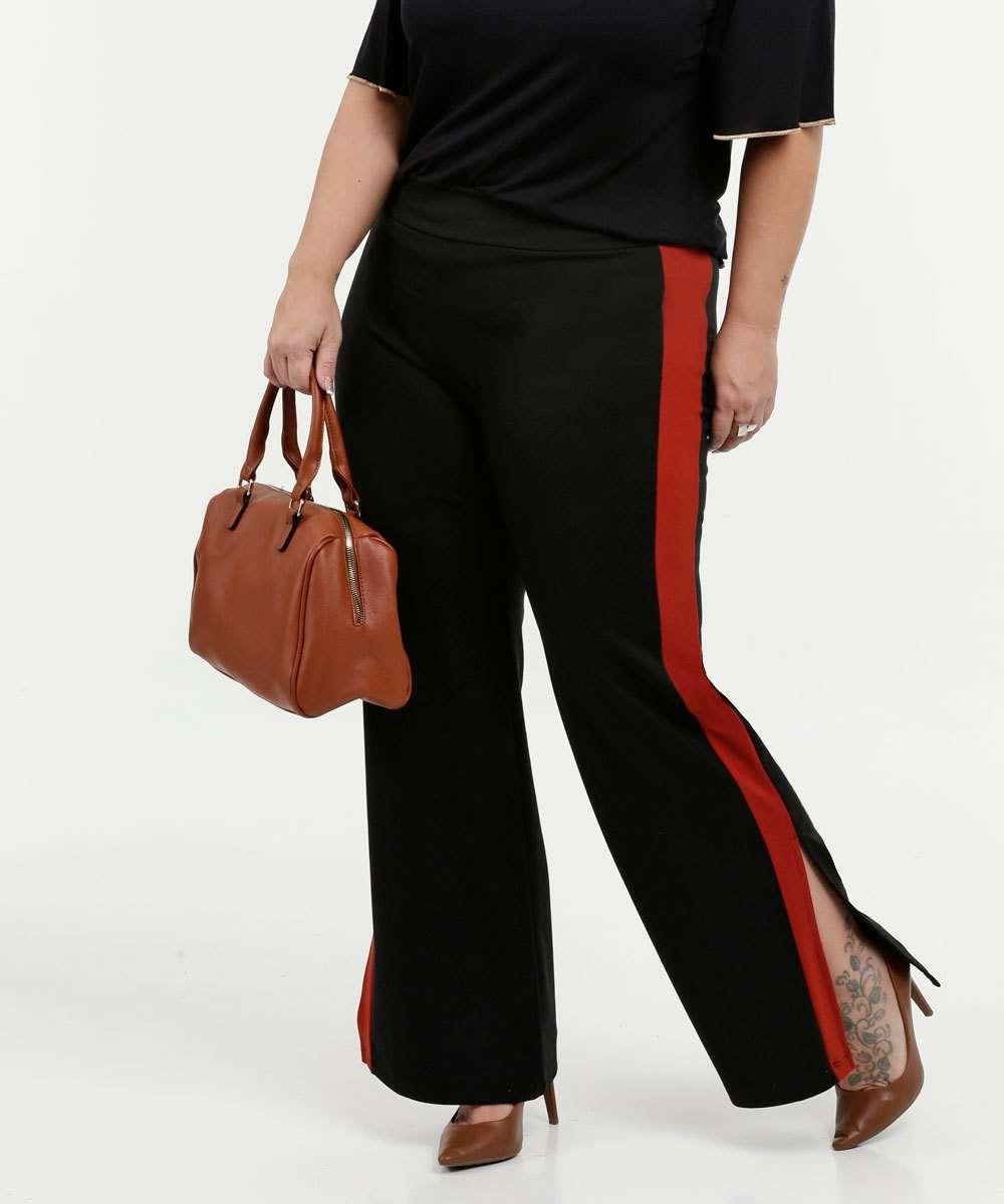 Calça Feminina Pantalona Faixa Plus Size