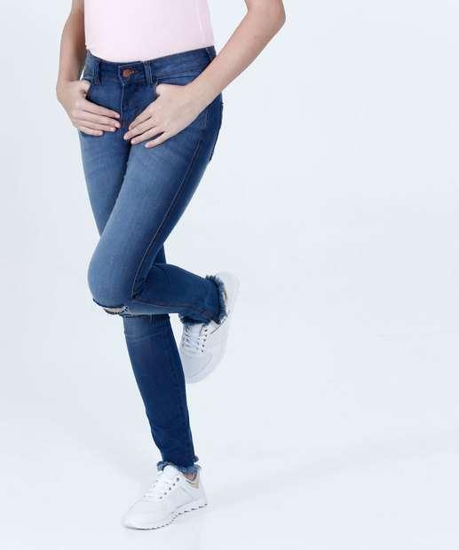 Image_Calça Juvenil Jeans Skinny Destroyed Marisa