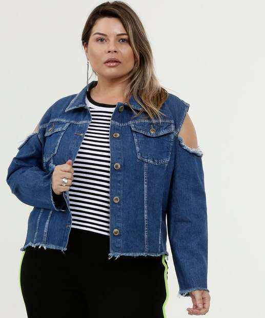 Image_Jaqueta Feminina Jeans Destroyed Plus Size Razon