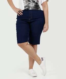 Bermuda Feminina Jeans Stretch Plus Size Marisa