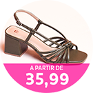 Sandálias a partir de R$35,99