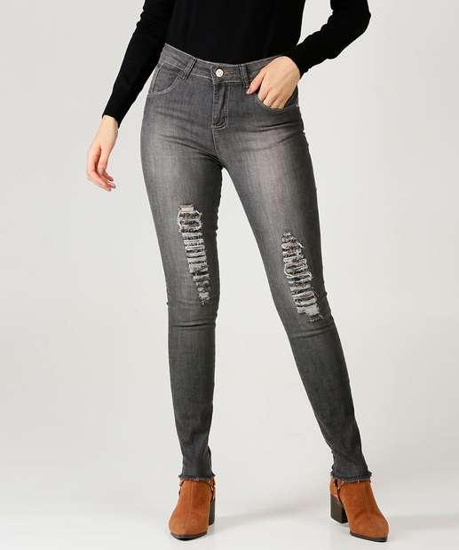 Image_Calça Jeans Destroyed Skinny Feminina Zamany Jeans