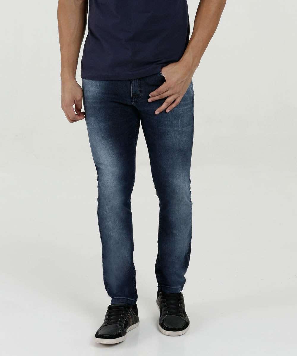 97f10f05a Calça Masculina Jeans Skinny Stretch Rock & Soda   Marisa