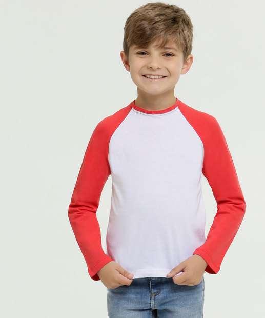 Image_Camiseta Infantil Bicolor Manga Longa