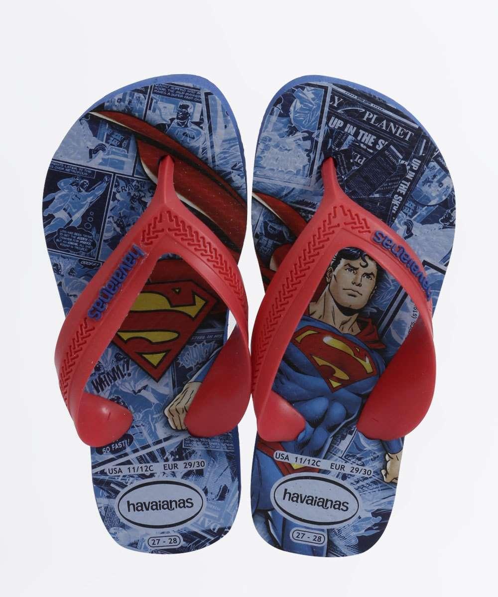 Chinelo Infantil Super Homem Kids Max Heróis Havaianas