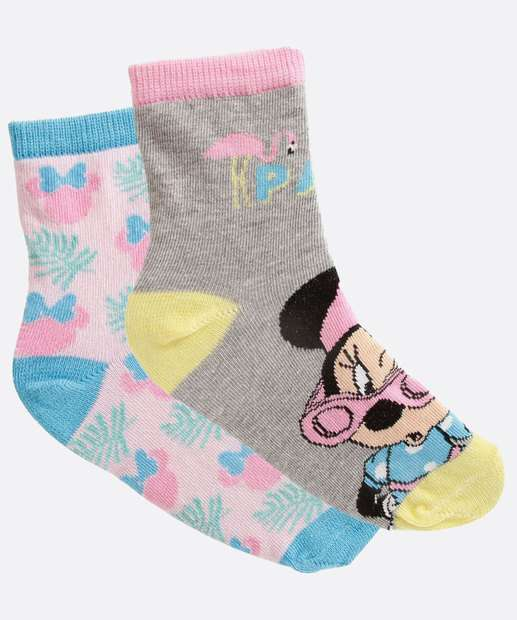 Image_Kit 2 Meias Infantil Estampa Minnie Disney