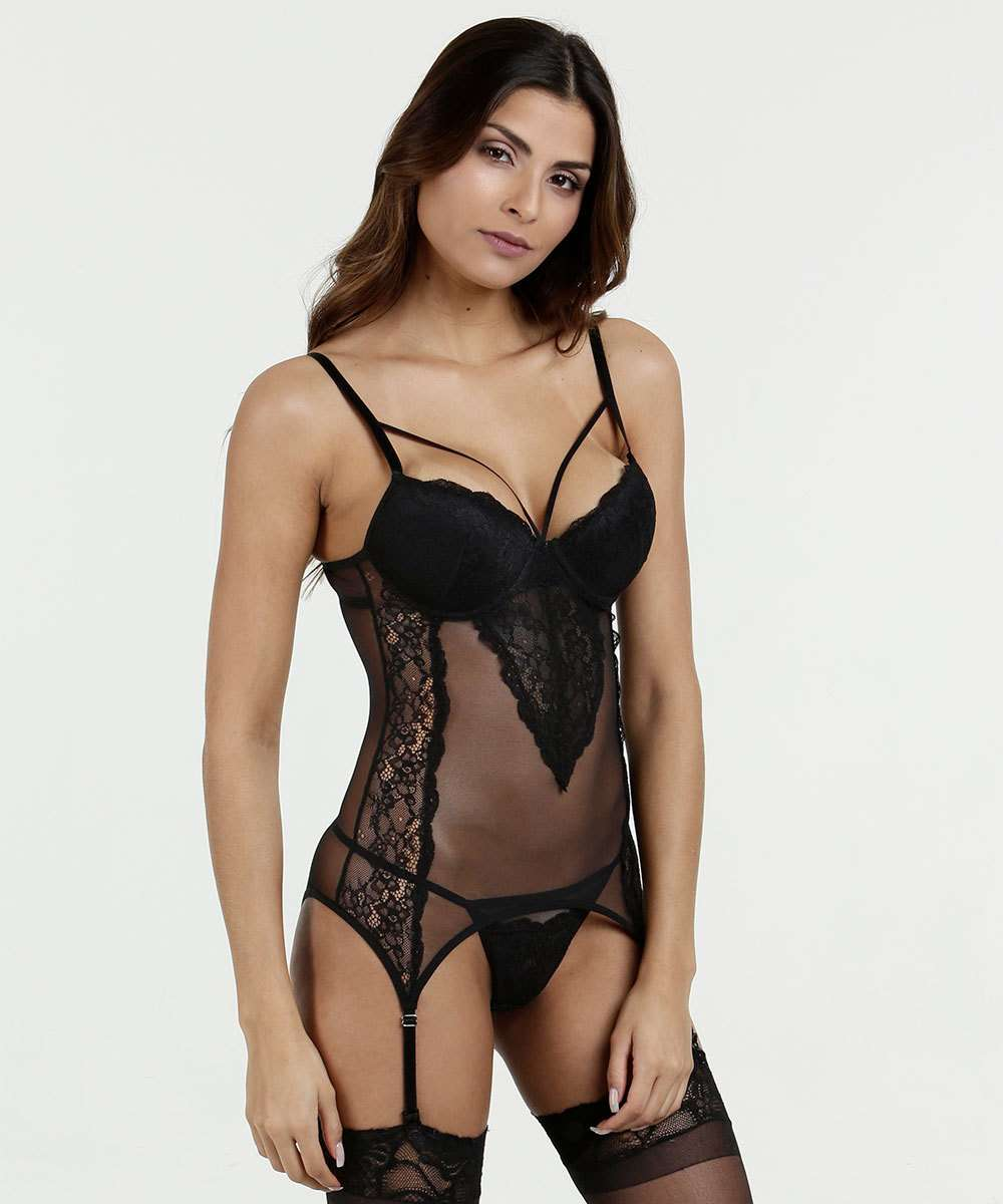 Kit Corselet Feminino Renda Marisa