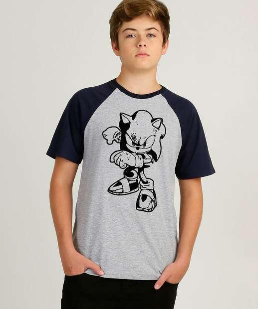 Image_Camiseta Juvenil Manga Curta Estampada Sonic Tam 10 a 16