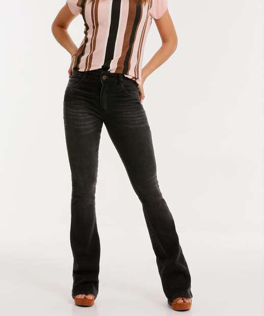 Image_Calça Jeans Boot Cut Feminina Bolsos Biotipo