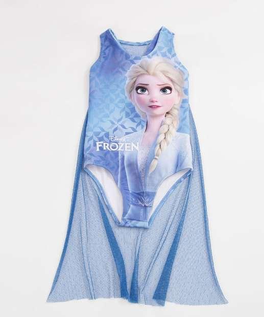 Image_Maiô Infantil Estampa Frozen Alças Finas Disney