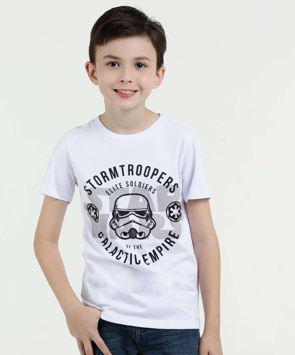 Camiseta Infantil Estampa Manga Curta Star Wars