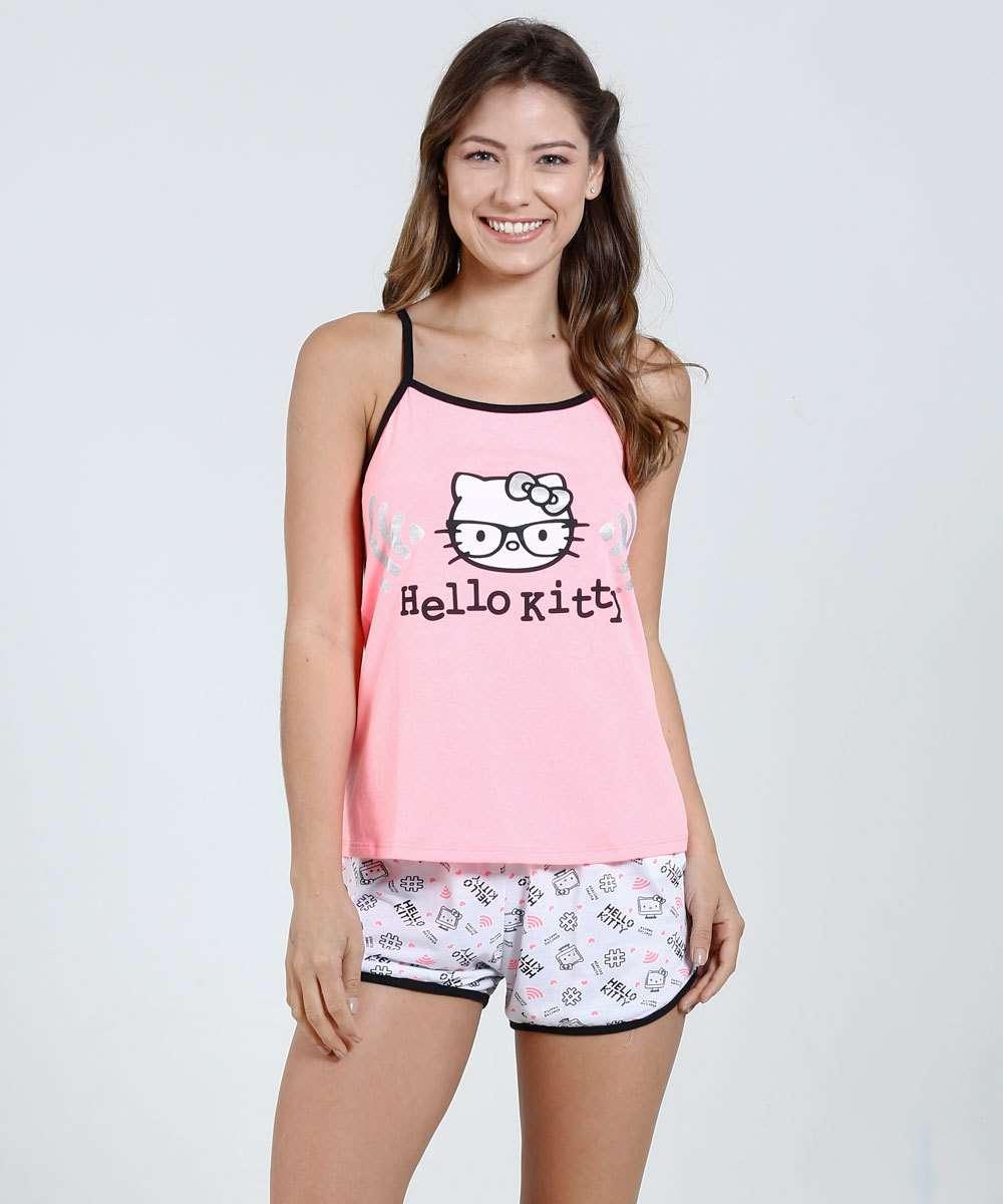 Image_Pijama Feminino Short Doll Hello Kitty