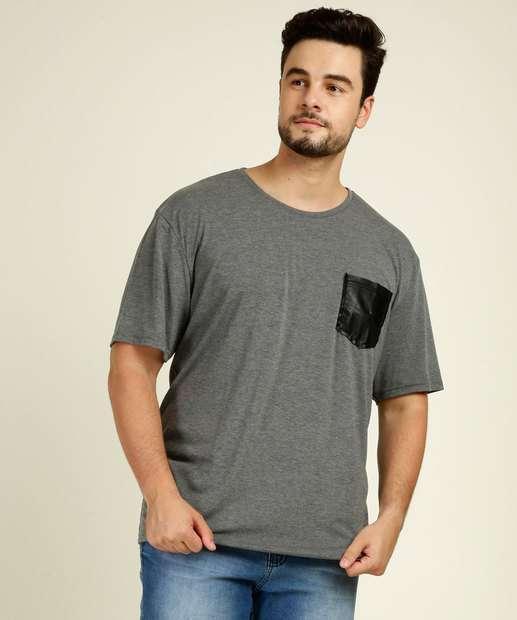 Image_Camiseta Masculina Plus Size Manga Curta