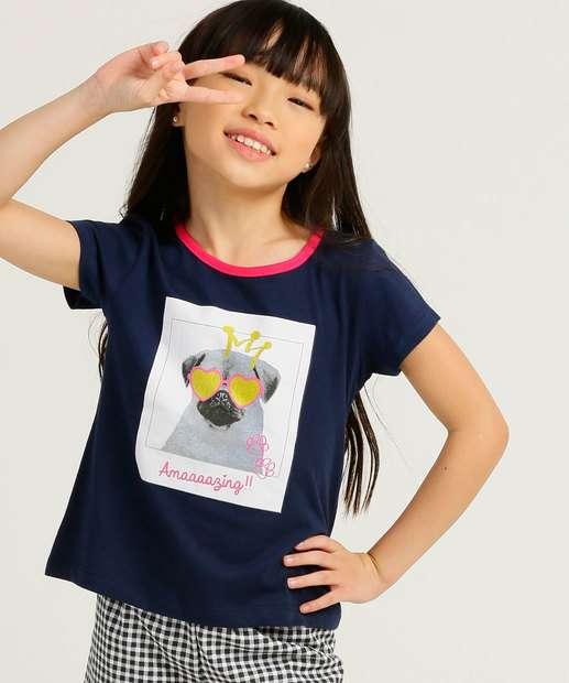 Image_Blusa Infantil Manga Curta Estampa Cachorro Tam 4 a 10