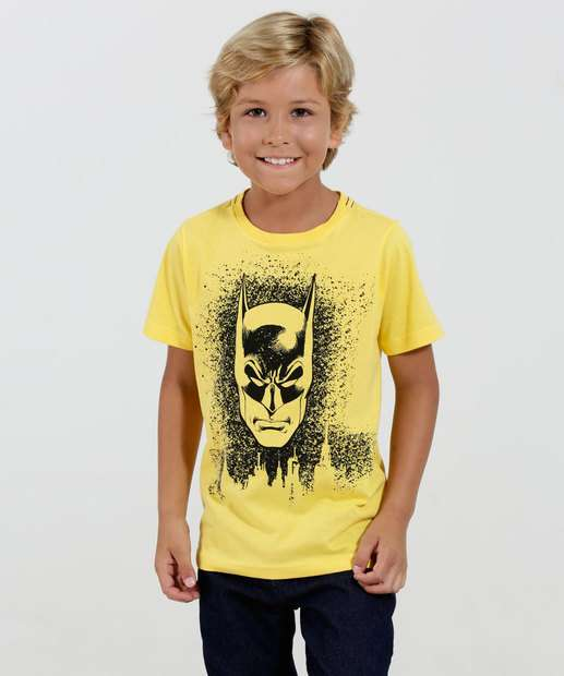 Image_Camiseta Infantil Manga Curta Batman Liga da Justiça