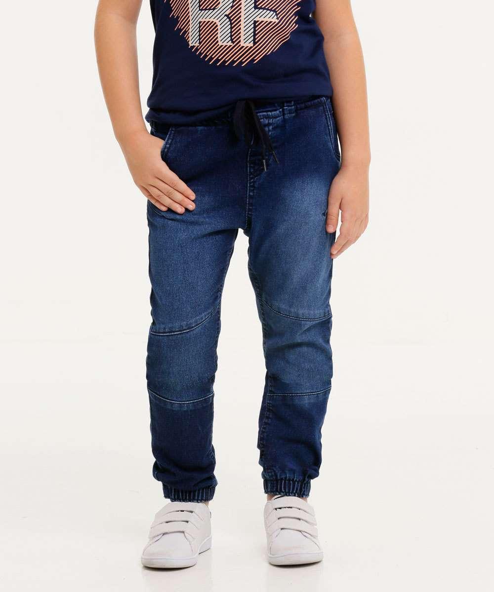 Calça Infantil Jeans Jogger Tam 4 ao 8