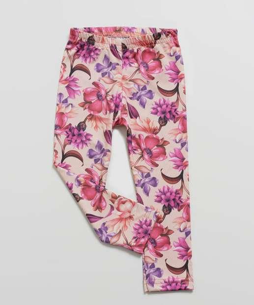 Image_Calça Infantil Legging Estampa Floral Tam 01 a 03