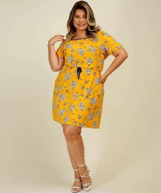 Image_Vestido Plus Size Feminino Estampa Floral