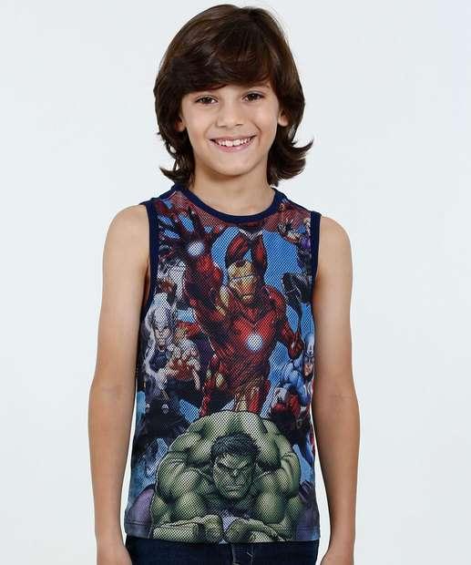 Image_Regata Infantil Tela Estampa Os Vingadores Marvel