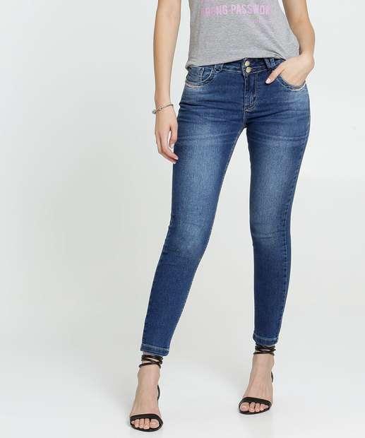Image_Calça Skinny Feminina Strass Uber Jeans